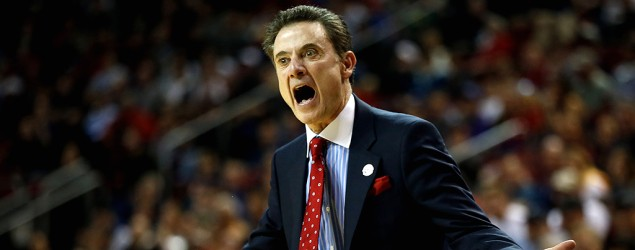 Louisville coach Rick Pitino. (Getty Images)