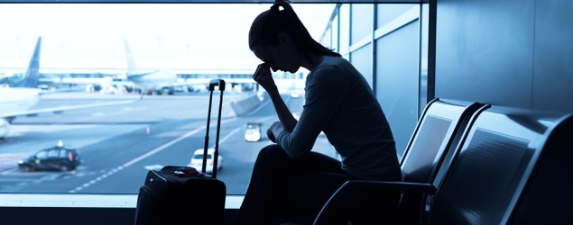 Stressed at airport. Photo: iStock