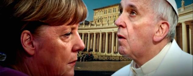 Merkel und Papst,  Bild: Screenshot