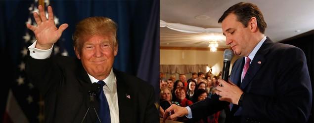 Donald Trump and Ted Cruz (AP)