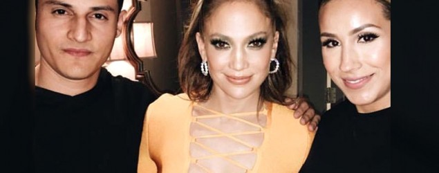 JLo cleavage. Photo