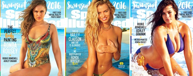 Three models chosen for 2016 SI cover. (Getty Images)