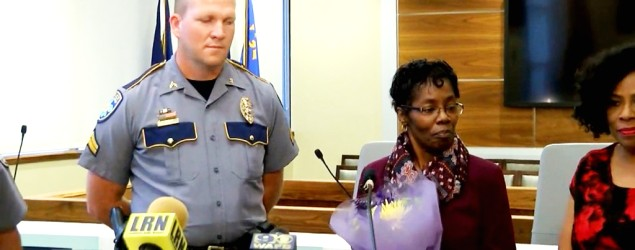 Officer Billie Amie and Vickie Williams-Tillman. (WAFB via Inside Edition)