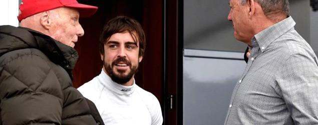Imagen de Alonso con Ron Dennis (EFE)