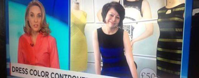 a chaîne d'information CNN a interviewé en directe la créatrice d'une robe que certaines personnes voient de couleur blanche et dorée, cnn