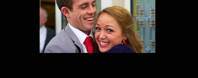 Engaged couple Liz Jensen and Jimmy Gillespie (GMA)