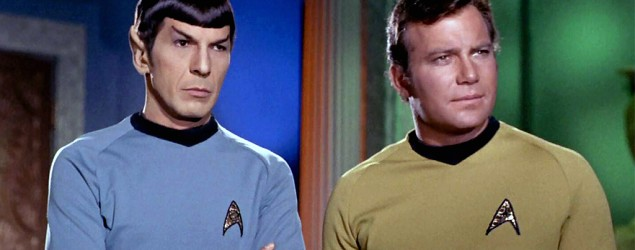 Leonard Nimoy and William Shatner in Star Trek. Photo: Getty Images