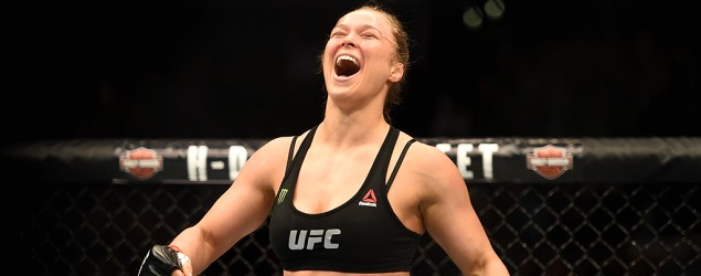 Ronda Rousey destroys Cat Zingano in just 14 seconds at UFC 184. (Getty Images)