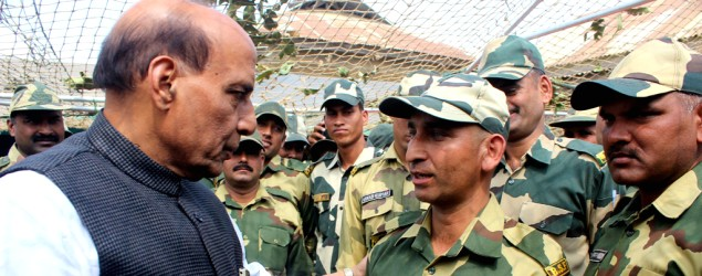 Credit for smooth J&K poll goes to army, EC not Pak: Rajnath