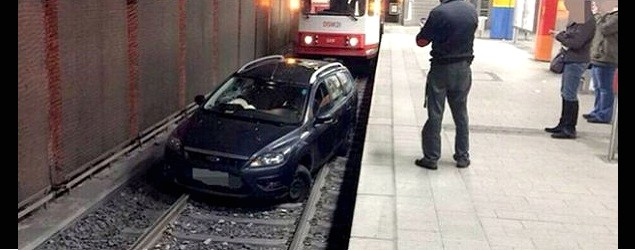 醉酒司機闖路軌 累地鐵停駛
