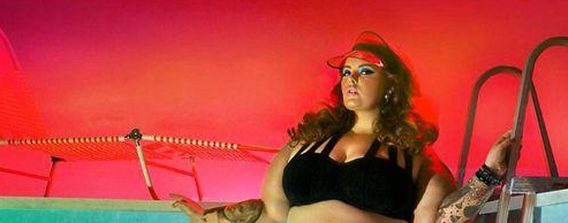 Plus-size model Tess Holliday in a new ad campaign for swimwear from the Sea by Monif C.