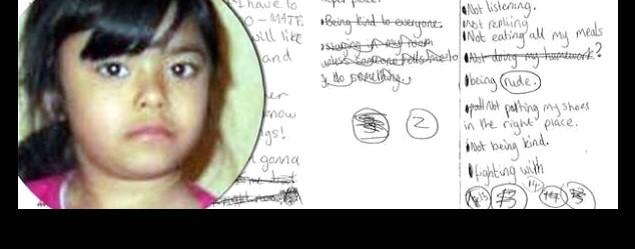 遭母虐殺 8歲女生前寫的信
