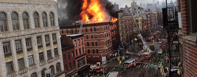 Building collapses in New York's East Village neighborhood, police say. (Reuters)