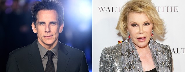 Ben Stiller, Joan Rivers. Image: Getty