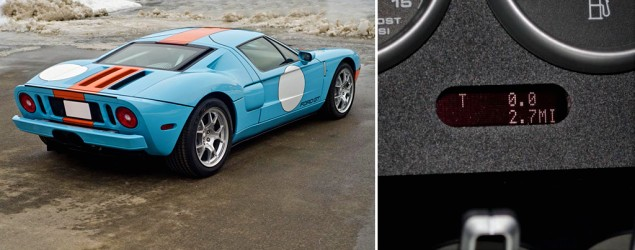 Ford GT with 2.7 miles on it goes to auction
