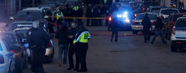 The crime scene. Photo: AP