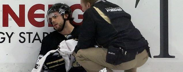 Penguins star Kris Letang hospitalized after brutal hit. (USA Today)