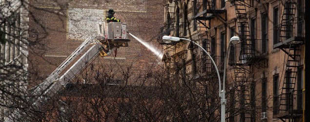 Body found at site of NYC explosion and fire. (AP)