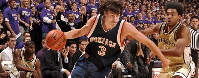Rarely seen tourney legend Adam Morrison's brand-new look. (Getty Images)