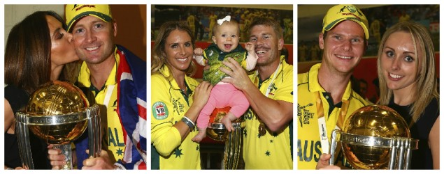 Australia celebrate World Cup win with family