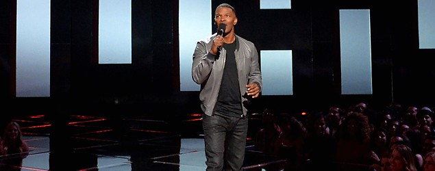 Jamie Foxx hosting the iHeartRadio Music Awards (Kevin Winter/Getty Images)