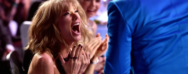 Taylor Swift loses control at iHeartRadio Awards (Kevin Winter/Getty Images)