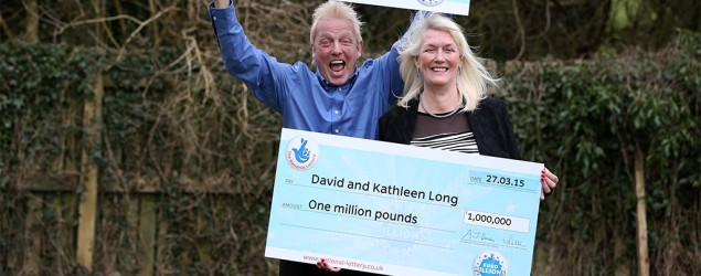 UK couple wins lottery a second time . Photo: AP