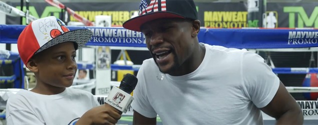 7-year-old hits Mayweather with tough questions