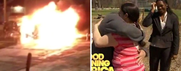 The heroes who saved a family from burning van