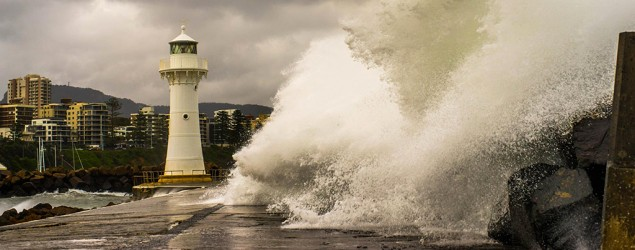 Sydney weather: Storms, gale force winds and heavy rain continue. Photo: Wollongong Harbour. Credit: Benji Reef Photography