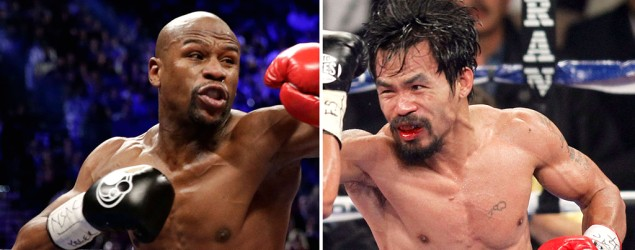 Pacquiao, Mayweather (20minutes.fr photo)