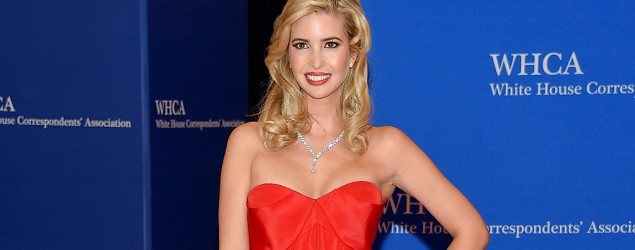 Ivanka Trump arrives at the White House Correspondents' Dinner in a stunning strapless red gown. (Getty Images)