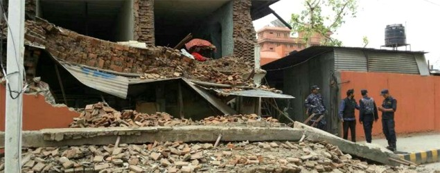 Some buildings collapse in Nepal capital after 7.7 quake
