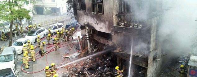 一聲巨響!慈雲山車房爆炸 至少三死六傷