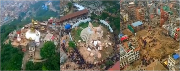 Heartrending video gives bird's-eye view of Nepal tragedy