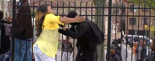 A Baltimore mom took action when she saw her son participating in a violent riot in Baltimore. (WMAR/GMA)
