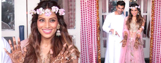 Bipasha Basu is pretty-in-pink at her 'mehendi' function