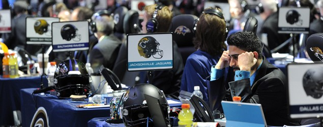 Live NFL draft coverage: Big names remain. (AP)