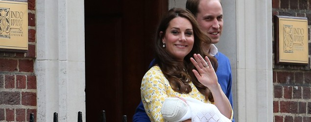 Kate Middleton looks radiant after giving birth. (Getty Images)