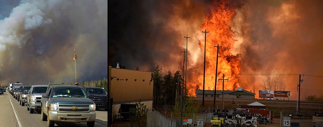 Wildfire threatens Fort McMurray