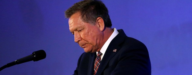John Kasich suspends his presidential campaign. (Stephen Lam/Reuters)