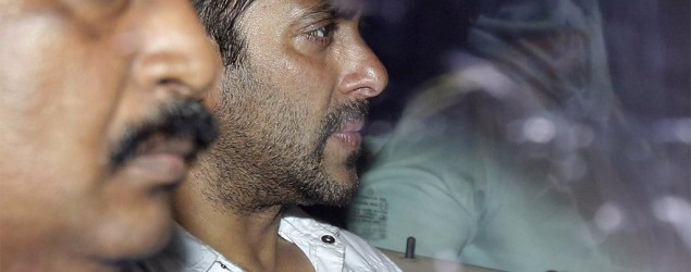 Bollywood's Khan sentenced to 5 years in jail for hit-and-run . Photo: AP