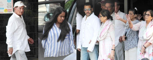 Family members, well-wishers visit Salman Khan