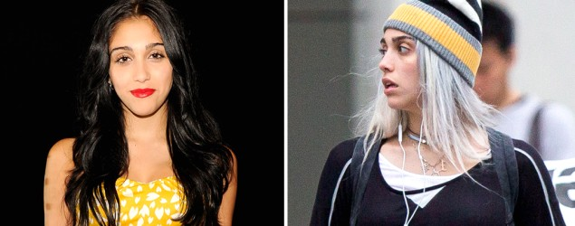 Madonna's daughter goes gray — on purpose