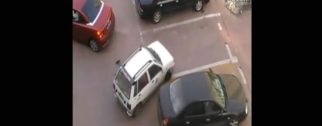 Parking space thief gets his comeuppance
