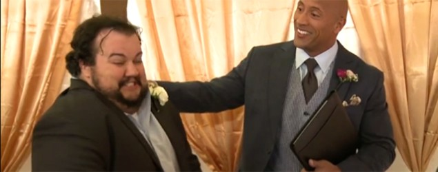 Dwayne 'The Rock' Johnson's wedding prank