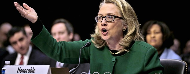 Secretary of State Hillary Clinton testifying on Capitol Hill on the deadly attack on the U.S. diplomatic mission in Benghazi, Libya. (Pablo Martinez Monsivais/AP)