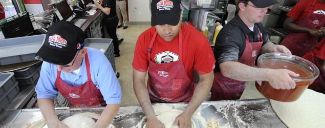 The cost of opening a Papa John's restaurant. (Kathy Kmonicek/Invision for Papa John's/AP)