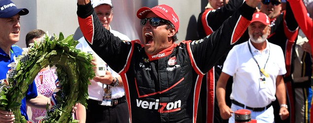 Juan Pablo Montoya wins the Indianapolis 500. (USA Today Sports)