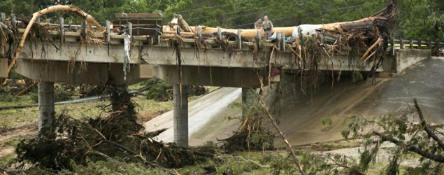 Flooding in Texas and Oklahoma prompts rescues and evacuations. (AP)